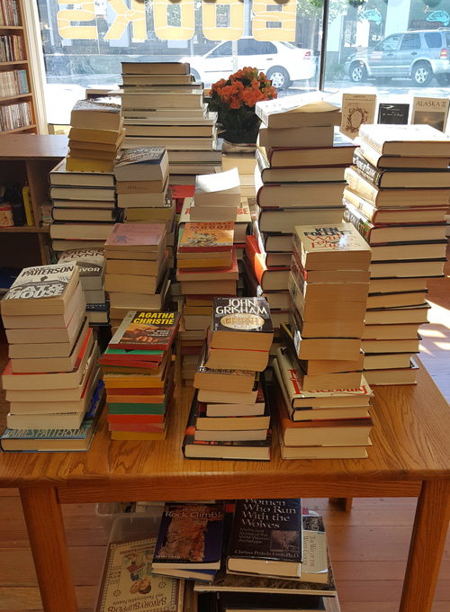 Large Stacks of Books