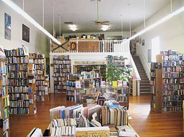 View of inside of Winston Smith Books store from front entrance